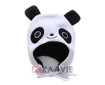 Custom polar fleece cute panda rabbit tiger shaped animal pattern baby winter  cap and hat 27b3f11706d