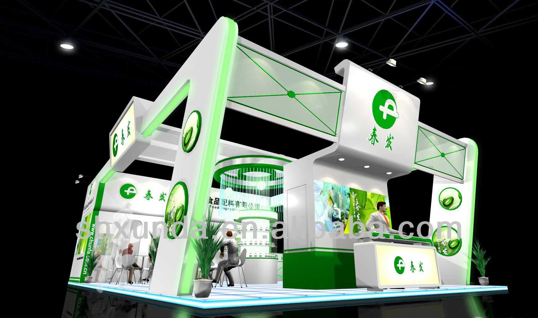 Food Exhibition Booth Design : La exposición internacional de alimentos feria stand