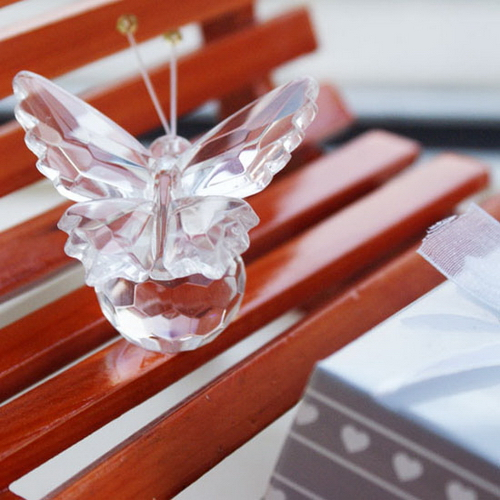 Crystal Wedding Gift: 50Pcs Birthday Party Favor With Gift Box Lembrancinha De