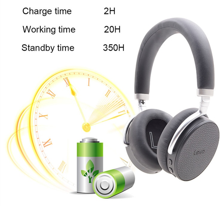 2017 Best quality stereo folding anc bluetooth headphone with mic for PC smartphone