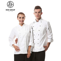 High Quality Hotel Restaurant Kitchen Chef Coat Cook Uniform