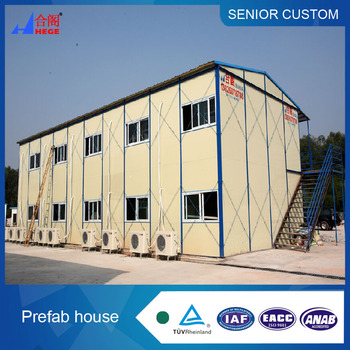 China cheap standard double-gradient modular prefab house