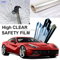 High Clear 2Mil / 4Mil / 6Mil korea safety shatterproof car window film price