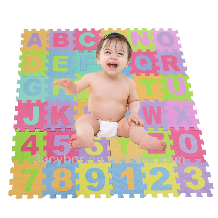 Alphabet & Numbers Soft Foam Puzzle Mat Children Kids Play Mat