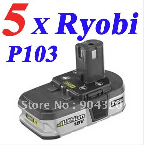 5 pcs ryobi 18v 1 4ah lithium ion battery one compact. Black Bedroom Furniture Sets. Home Design Ideas