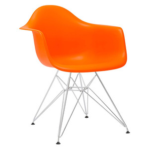 Factory offered green office plastic modern chair