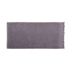 Soft 100% cotton rhombus pattern jacquard plain woven cheap face towel with tassels
