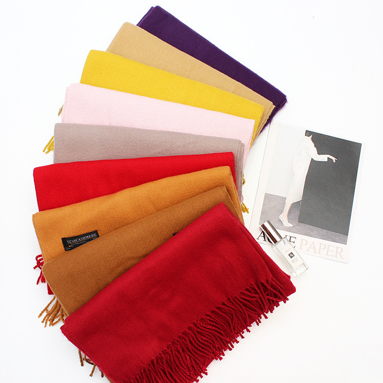 new famous design camel tartan thick cheap cashmere scarf wholesale