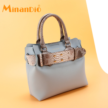 MINANDIO Famous Designer Dubai Leather Bags Women Elegance Brands Ladies' Handbag Low Price