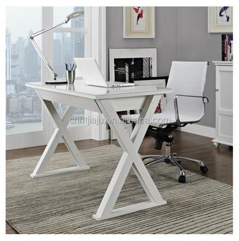 Scrivania Per Computer Bianco.48 In Bianco Vetro Metallo Scrivania Del Computer Semplice Desk