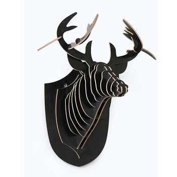 Diy Wall Mounted Decoration Wooden Carved Deer Head