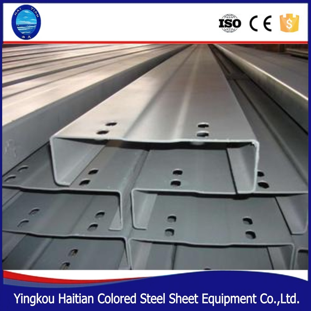 Lipped Channel Galvanized Uni Strut Steel Channel