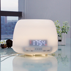Home Appliances White Humidifier Essential Oil Diffuser With Digital Clock