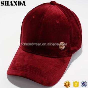 08d70afb75f metal logo velvet baseball cap