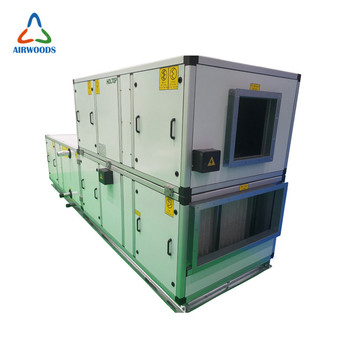 Restaurant central air handling unit for air conditioning
