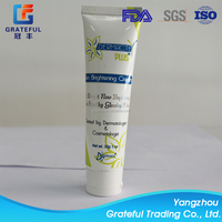 Large plastic tubes facial cleaning cylinder round sharp flip top cap hot stamping surface plastic tubes