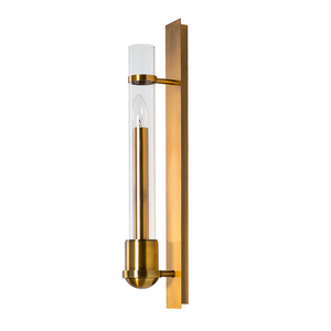 Factory Price Modern Simple Elegant Hotel Lobby Decorative Gold LED Glass Wall Sconce For Home