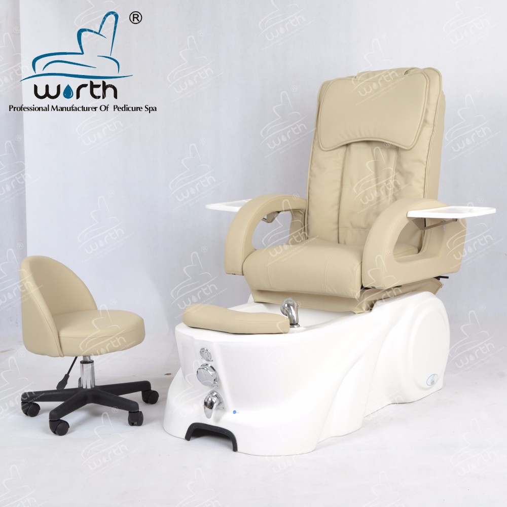 New cream acrylic pedicure foot spa base pedicure back massage chair