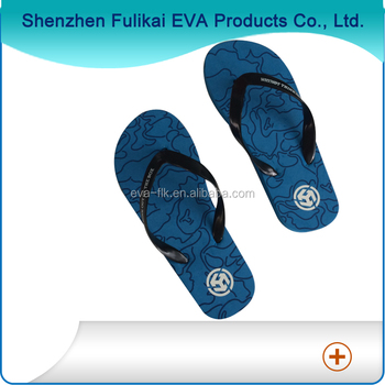 Pvc Strap And Eva Sole Imprint Flip Flops Slippers China