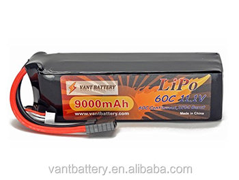 Vant newest soft 11.1V 9000mAh 3S Cell 60C-120C used in Traxxas X-Maxx LiPo Battery Pack w/ Traxxas High Current Style Connector