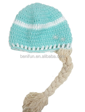 baby girls cotton elsa Crochet hats Crochet cute Beanie kids frozen hat