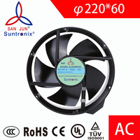 Suntronix indutrial axial ac fan 220V 380V 220mm * 60mm High speed .For DIY Cooling Ventilation fan Exhaust fan motor Projects.