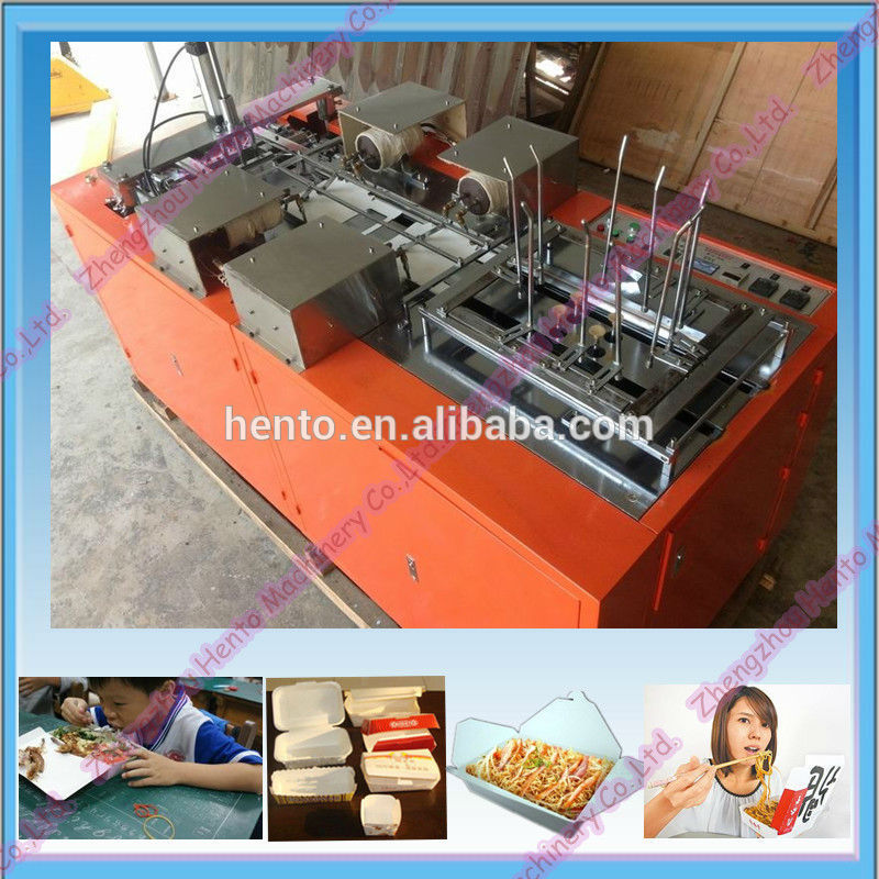 Paper Lunch Box Making Machine / Take Away Food Box Making Machine
