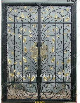 Exceptionnel Double Door Wrought Iron Gate YL E046
