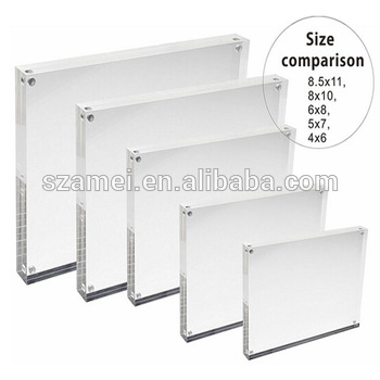 Acrylic Picture Frames Block 3x5 Holder Stand Display With ...