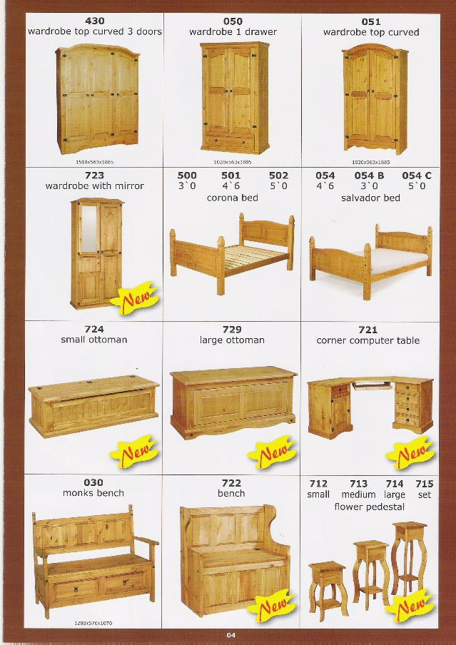 Muebles en pinoOtros Muebles de maderaIdentificación del producto