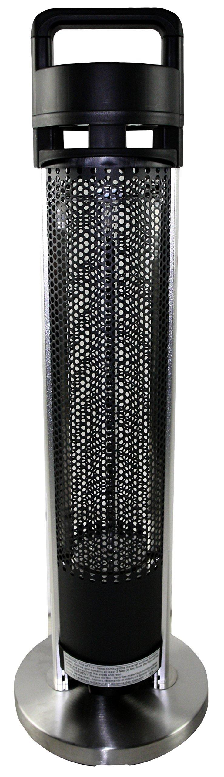 HeTR H1014UPS Indoor/Outdoor Rated Radiant Tower Heater, 36-Inch