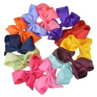 5 inch stock color ribbon hair bow , Big teenager hair bow with hair clip
