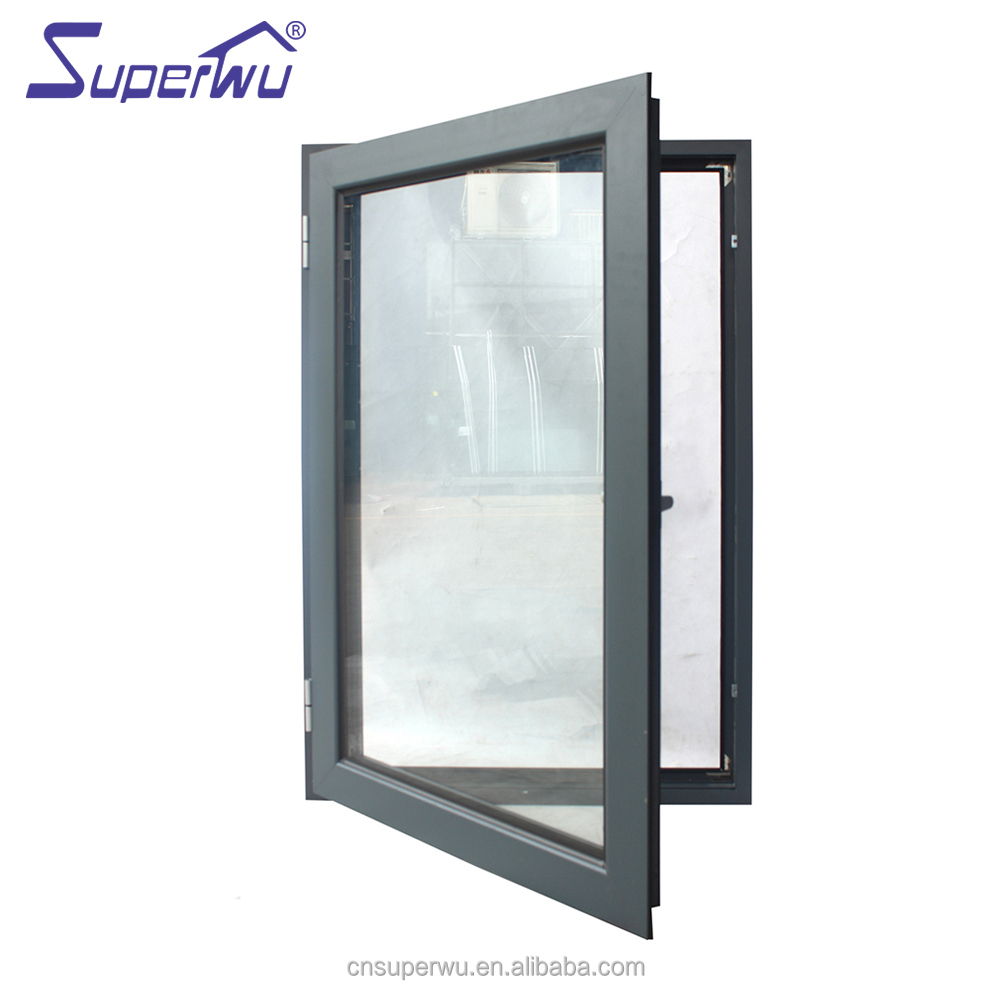 AU & NZ standard Powder Painted tinted glass hurricane impact casement door windows