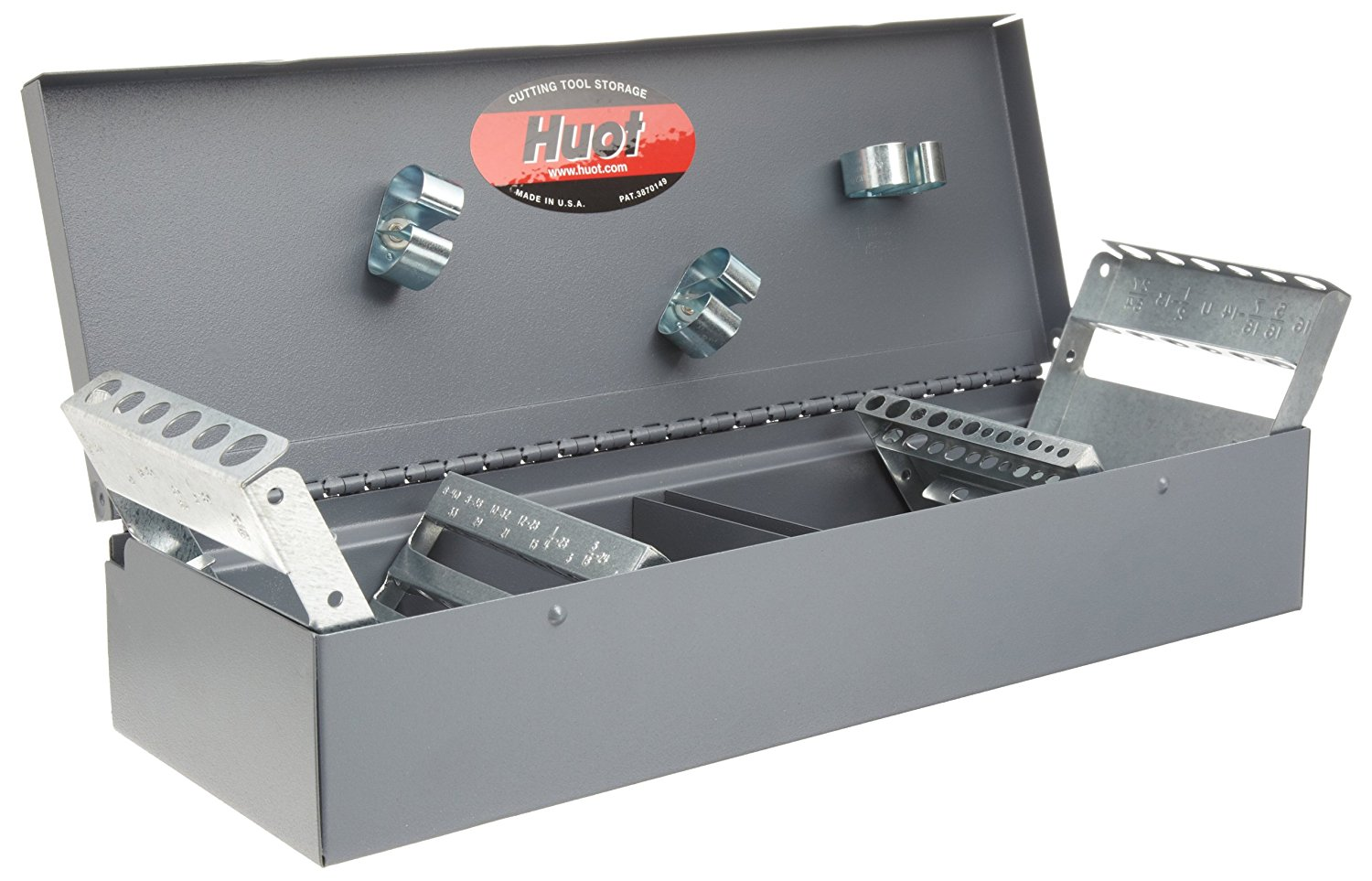 """Huot 12700 Combination Tap and Drill Bit Index for Tap Sizes #6-40 to 1/2""""-20 (NF) and #6-32 to 1/2""""-13 (NC) and Drill Bit Sizes #33 to 29/64"""" (NF) and #36 to 27/64"""" (NC)"""