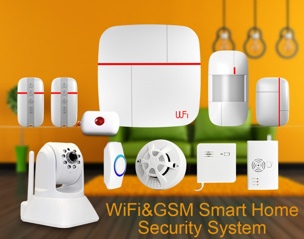 Vcare 2015 Newest Smart Home Alarms Wifi+gsm Home Alarm System ...