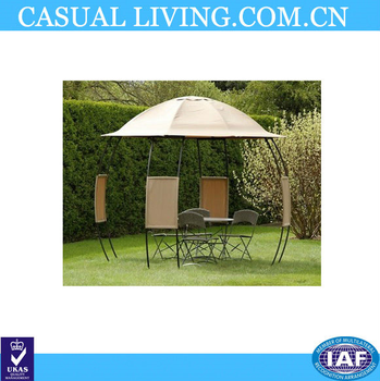 Gazebos Rain Gutters Small And Round Roof Shape Gazebo
