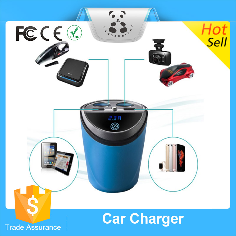 Multi-function double usb car charger Car cigarette lighter socket usb adapter for car radio