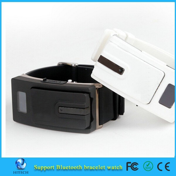 Design Bluetooth V3.0 Headset smart Sports Watch Bracelet call vibrating alert for iPhone 6 5s Samsung HTC Phones
