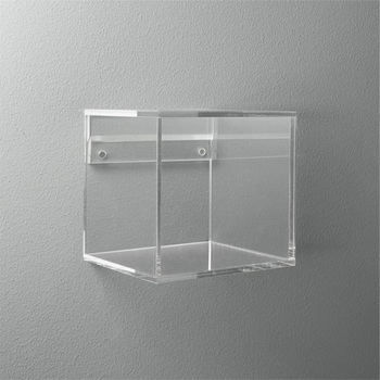 Wall Mounted Cube Clear Acrylic Storage Box Lucite Display