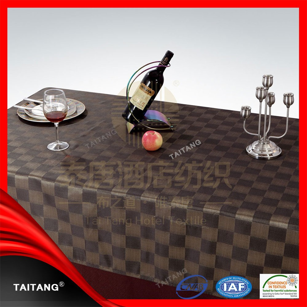 New series of elegant banquet lower price table cover rubber table cloth