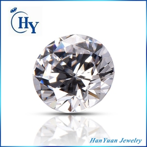 Best selling AAA 1.5mm 2mm white round synthetic stone cubic zirconia price per gram