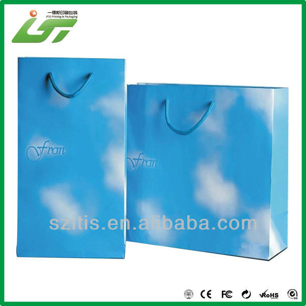 soft cover gloss laminate paper bag Shenzhen factory