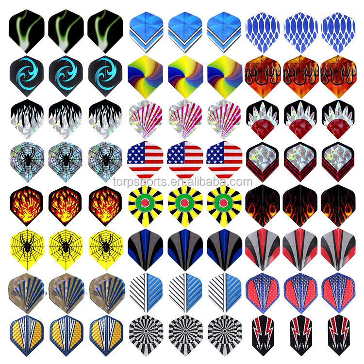 Dart Flights Durable PET and Laser Flights for Darts, Perfect Accessories Equipment Supplies for Dart Games TD-A006