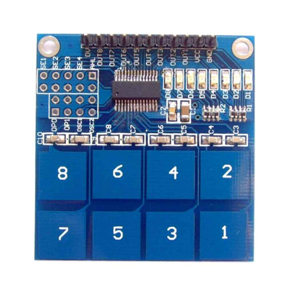Cheap Touch Sensor Switch Circuit Find L Battery Indicator Capacitive Get Quotations Cocoray 8 Keys Buttons Module Capacitance Digital Transducer Board 24v