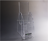 Factory customized clear acrylic poster display stand