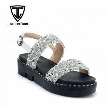 Womens Platform Heel Sandals Ladies Summer Holiday Flat Two Strap Shoes