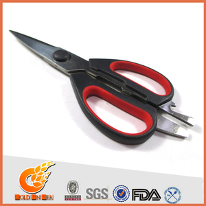 Personal curved cutting leather scissors (S12499)