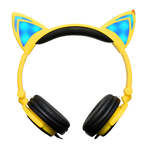 2018 hottest music Noise Cancelling enjoy cat ear glowing headphones in party