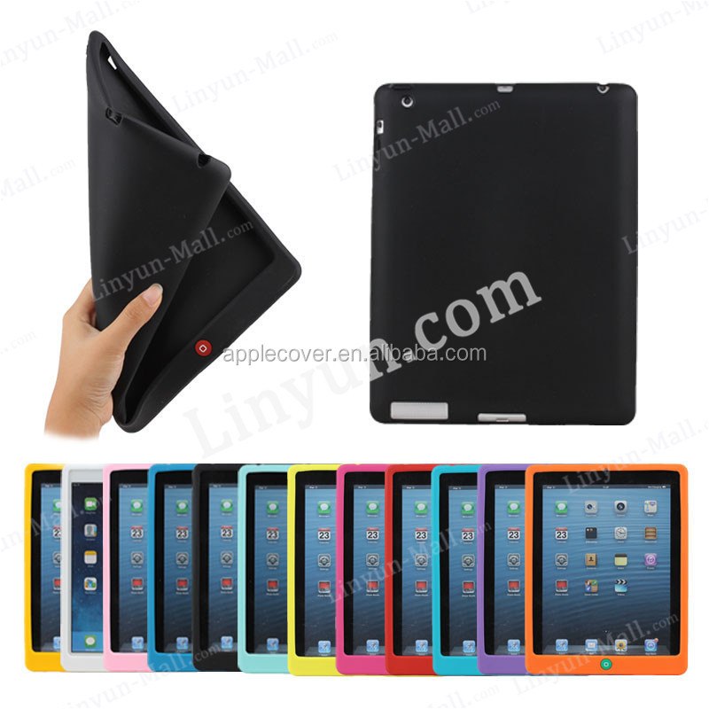 Wholesale Hot Selling Compatible Brand Silicone case for iPad 2/3/4, For apple iPad 2/3/4 cover case