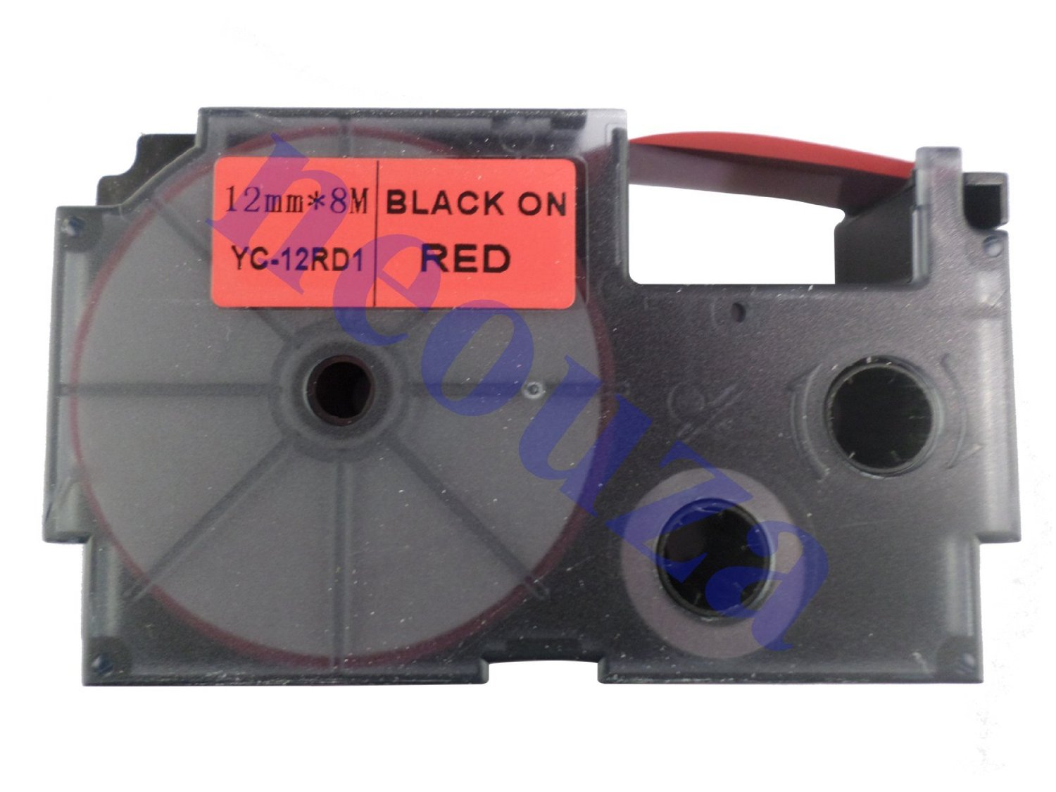 Compatible for Casio EZ-Label Tape 12mm Black on Red XR-12RD1 8m LABEL IT!